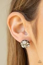 Diamond Daze - Brass Post Earrings