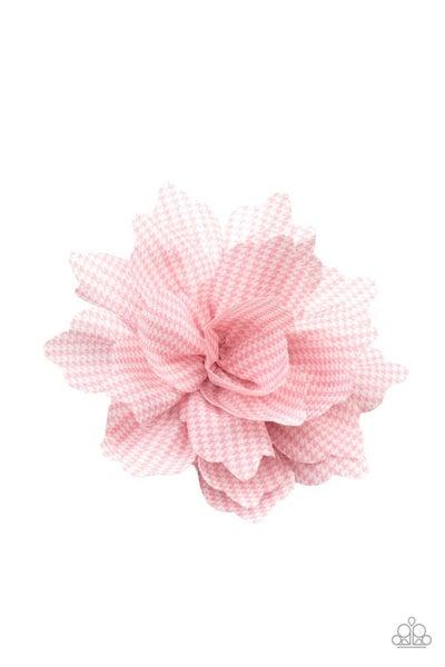 Pre-sale Plaid Prairies - Pink & White Plaid Hair Bow Clip