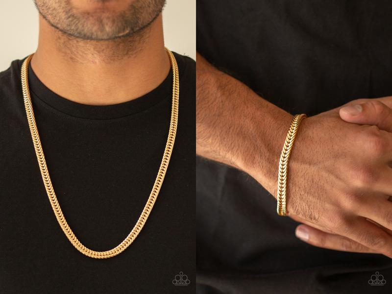 Pre-Order Knockout King & One-Two Knockout - Gold Necklace & Bracelet Set