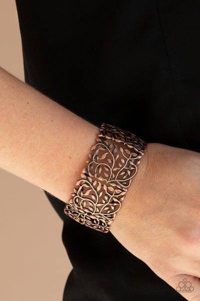 Verdantly Vintage - Copper Filigree Stretch Bracelet