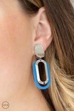 Melrose Mystery - Blue Clip-On Earrings