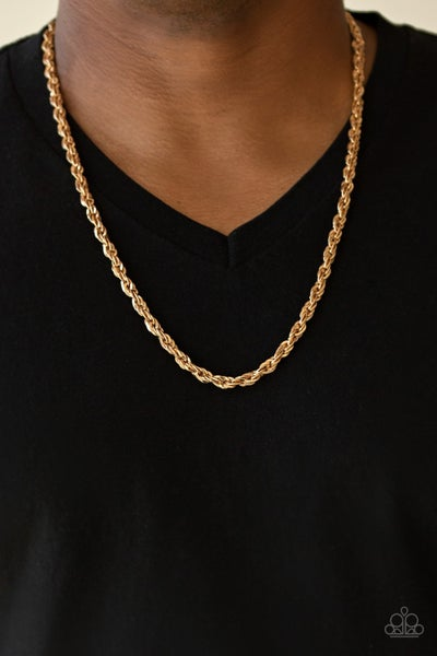 Pre-Order Instant Replay - Gold double rope Necklace (No Earrings)