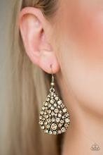 Sparkle Brighter - Brass Earrings