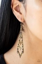 Electric Shimmer - Brass Earrings