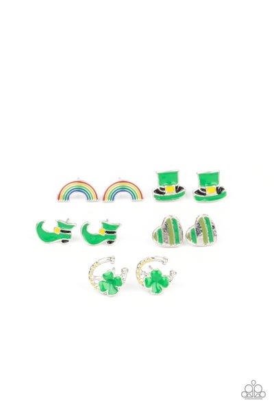 St. Patrick's Day Kid's (or adults for fun)  post back Earrings