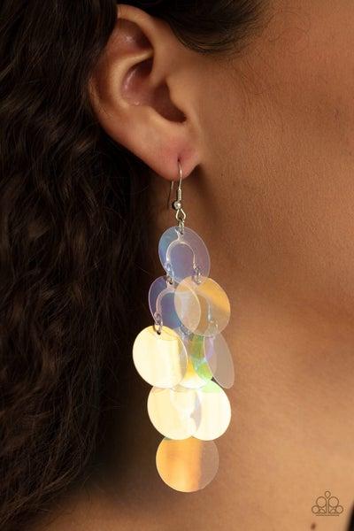 Mermaid Shimmer - Multi Iridescent Earrings