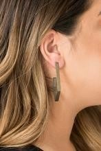 Geo Grand - Brass Earrings