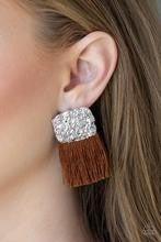 Plume Bloom - Brown Post Earrings