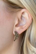 Wing Bling - Brass Post Earrings