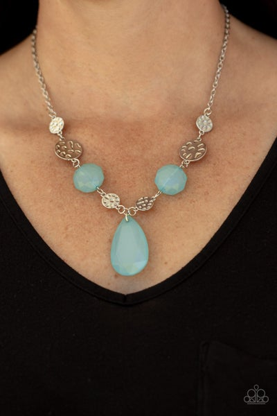 DEW What You Wanna DEW - Blue Moonstone with Silver Necklace & Earrings