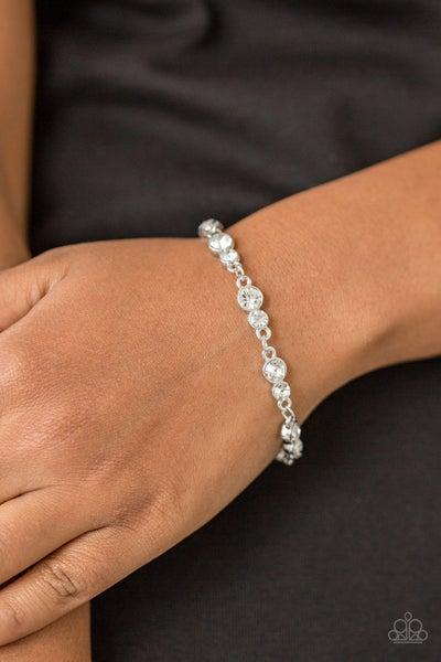 Twinkle Twinkle Little STARLET- Silver with White Rhinestones Bracelet