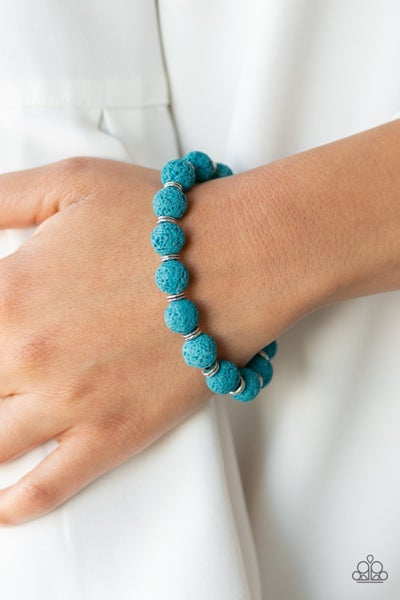 Luck - Blue Lava Bead Bracelet