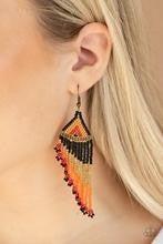 Rainbow Winds  Black Seedbead Earrings