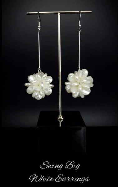 Swing Big - Silver with Acrylic Floral Drop Earrings - January 2021 Life of the Party Exclusive