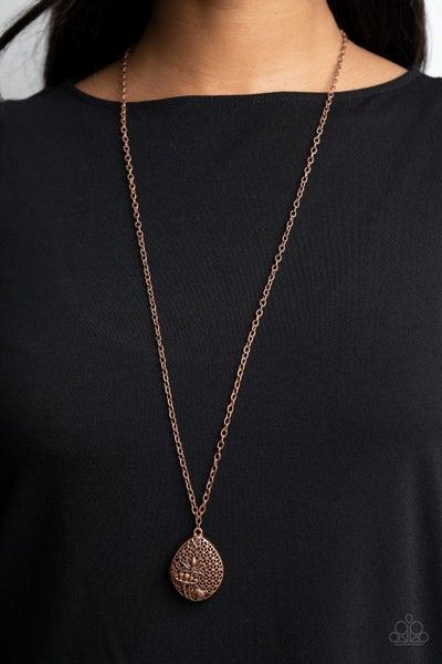 Wearable Wildflowers - Copper Wildflower Pendant Necklace & Earrings