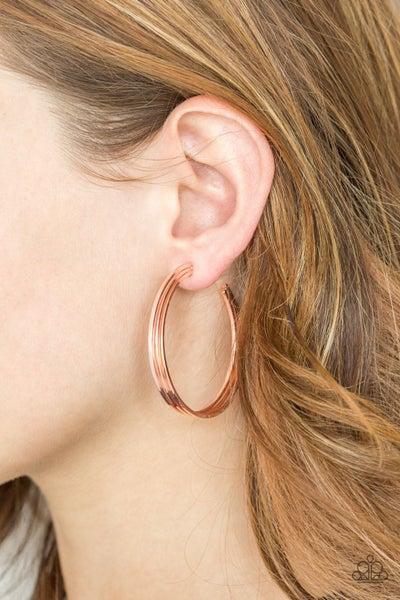 Haute Gossip - Copper Hoop Earrings