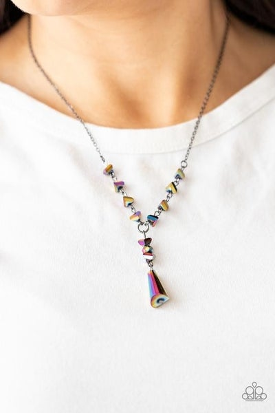 Olympian Oracle - Multi Oil Spill bead & pendant Iridescent Necklace & Earrings