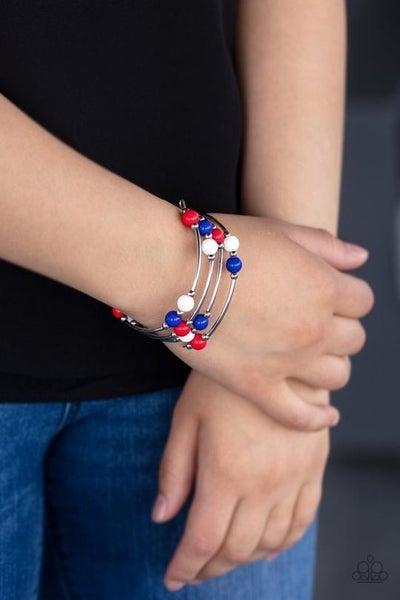 Let Freedom Ring - Red, White & Blue Coil Bracelet
