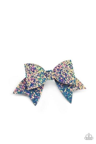 Confetti Princess - Multi-Oils Spill sequined Hair Bow