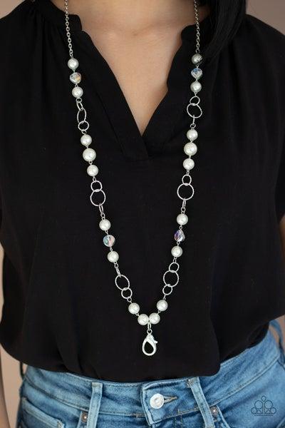 Prized Pearls Lanyard - White