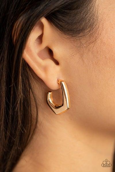 Pre-Sale On The Hook - Gold Curvy Hoop Earrings