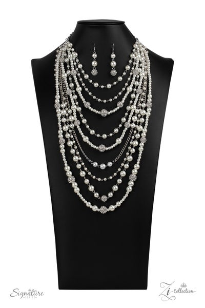 The LeCricia - Multiple Silver Layers of White Pearls & Rhinestones - 2020 Zi Collection