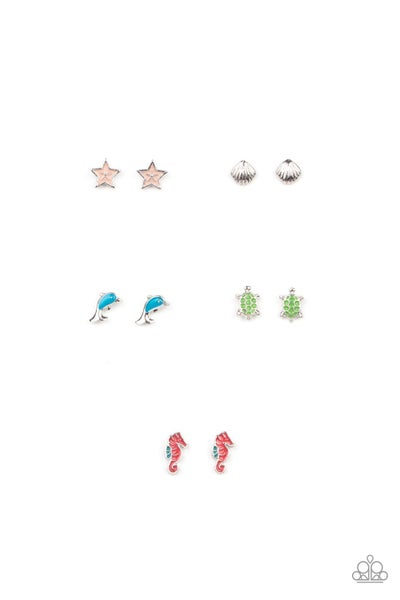 Assorted and Beach-Themed Colorful Earrings for Kids or the Kid at Heart