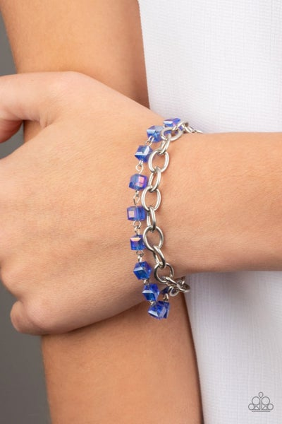 Life Of The Block Party - Iridescent Blue Bracelet
