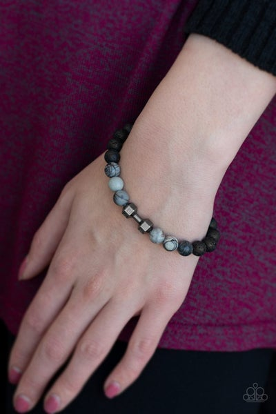 All About The Present - Lava Bead with Barbell Bracelet