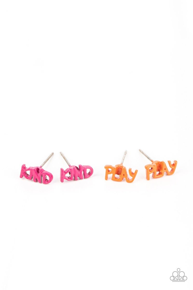 Pre-Order Assorted Colors & Inspirational worded Earrings for Kids or the Kid at Heart