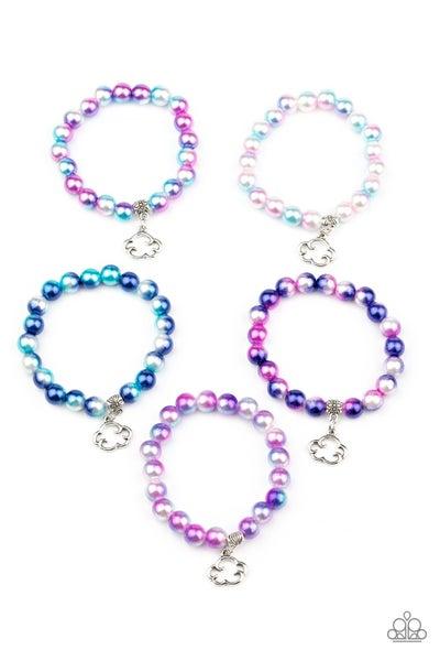 Pre-Sale - Multicolor Iridescent Beads & Cloud Charm Kid's Bracelets