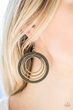 Totally Textured - Brass Earrings