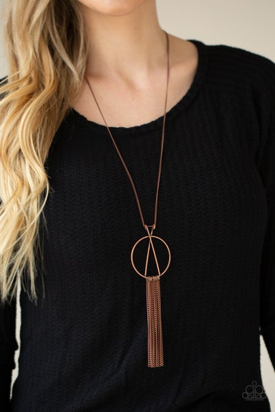 Pre-Sale Apparatus Applique - Copper Pendant with tassels Necklace & Earrings