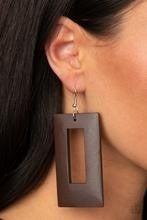 Totally Framed - Brown Earrings