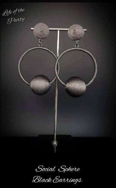 Pre Sale Social Sphere - Gunmetal Thread - Life of the Party April 2021 Earrings