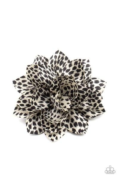 Deep In The Jungle - Black & White Animal Print Hair Clip