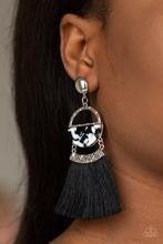 Tassel Trot - Black Post Earrings