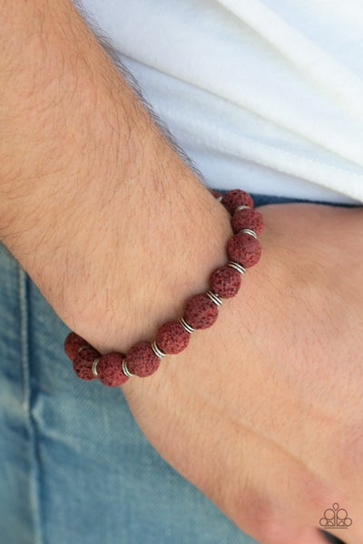 Luck - Red Lava Bead Bracelet
