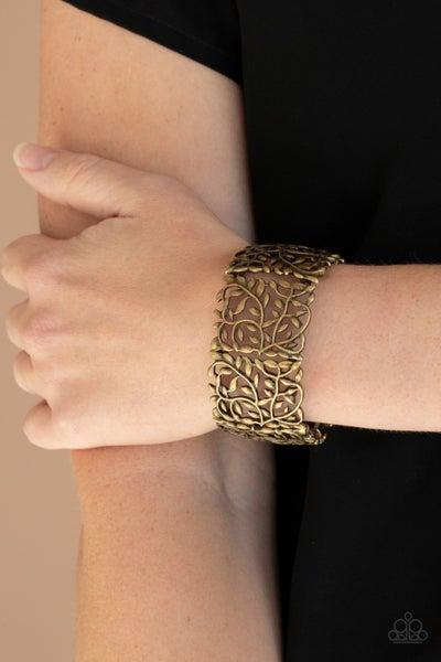 Pre-Sale Verdantly Vintage - Antique filigree Brass stretch Bracelet