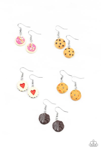 Sweets in Assorted Colors on Fish Hook back Kid's Earrings