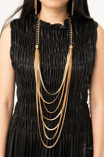 Commanding - Layers of Gold Herringbone Chains Necklace - 2020 Zi Collection