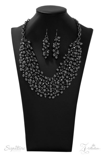 The Kellyshea - Cluster of Gunmetal Beads Necklace - 2019 Zi Collection