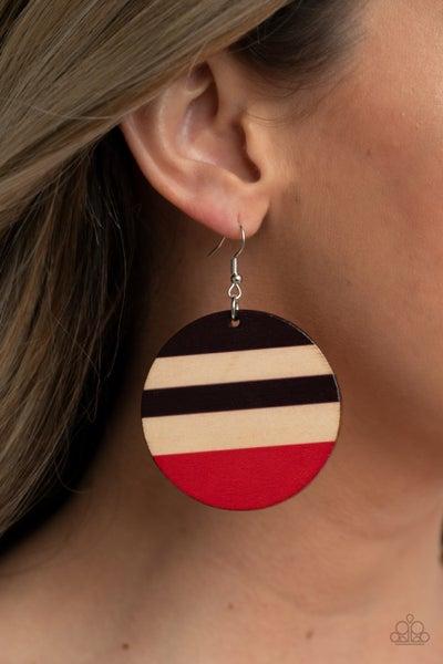 Pre-Sale Yacht Party - Multi Striped Wood Earrings