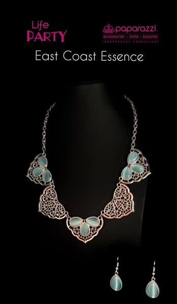 East Coast Essence - Silver Lacy Filigree with White Moonstones Necklace