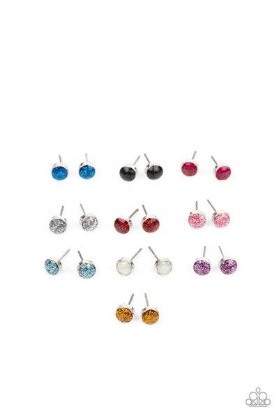 Assorted colors of Glittery filled Rhinestone Rings for Kids or the Kid at Heart