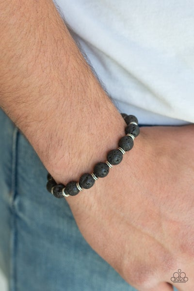 Luck - Black Lava Bead Bracelet