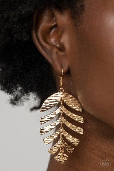 Pre-Order Palm Lagoon - Gold Palm Leaf Earrings