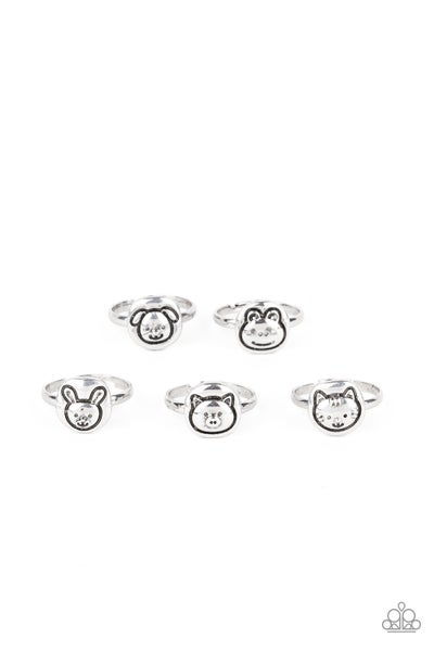Assorted Animal Faces on Silver Rings for Kids or the Kid at Heart
