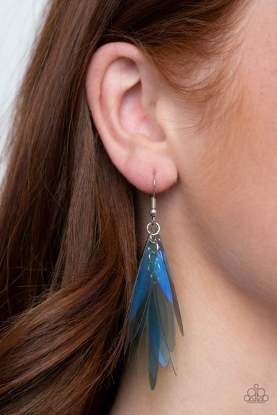 Holographic Glamour - Holographic Blue Earrings
