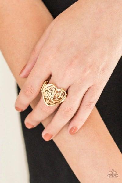Meet Your MATCHMAKER - Gold Filigree Heart Ring